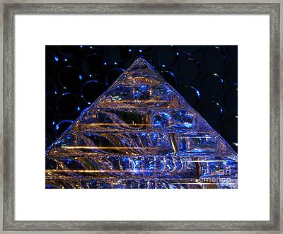 Ice Pyramid Framed Print