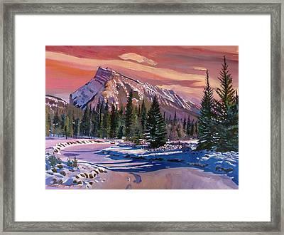 Ice River Sunrise Framed Print
