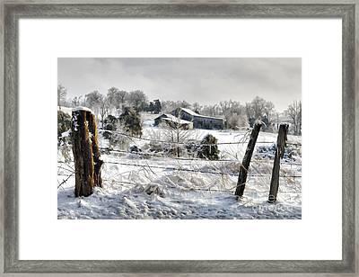 Ice Storm - D004825a Framed Print