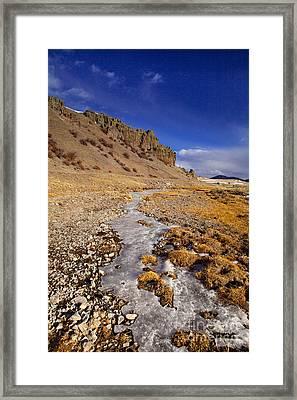 Ice Stream Framed Print