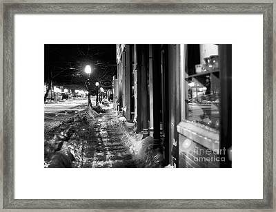 Ice Walk Framed Print