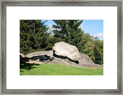 Iceage Rock Framed Print by Rob Hans