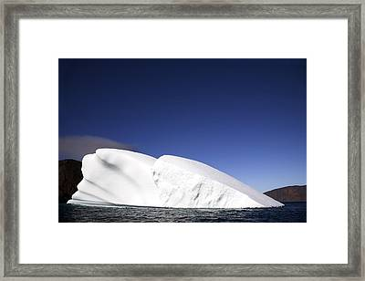 Iceberg In Canadian Arctic Framed Print by Richard Wear
