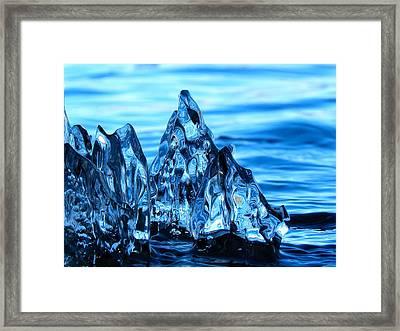 Iceberg River Framed Print