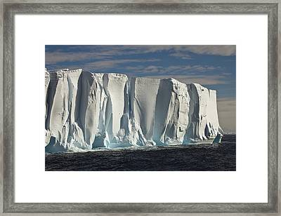 Iceberg Showing Annual Layers Of Snow Framed Print