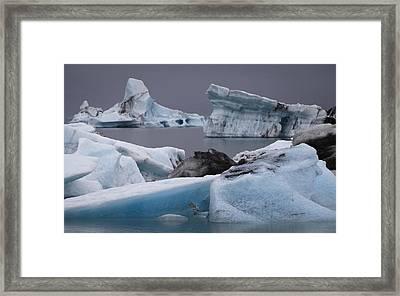 Icebergs Framed Print by Arnar B Gudjonsson