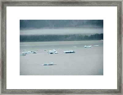 Icebergs Floating In The Sea Framed Print by James Forte