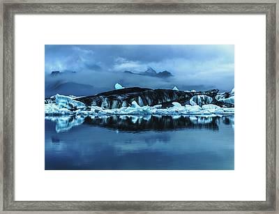Icebergs In Jokulsarlon Framed Print