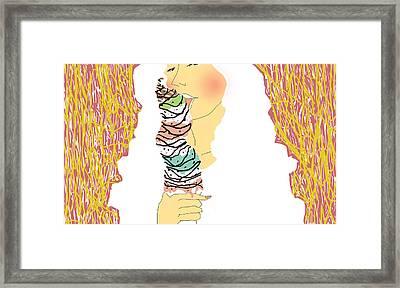 Icecream Framed Print by Pansak Sakpiboonrat