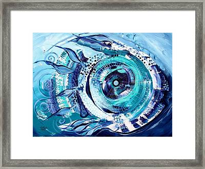 Icehole Fish Framed Print