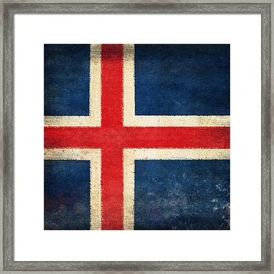 Iceland Flag Framed Print by Setsiri Silapasuwanchai