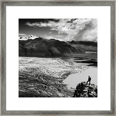 Iceland Glacier Tongue Framed Print by Nina Papiorek