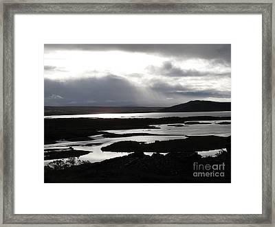 Iceland Landscape Framed Print by Louise Peardon