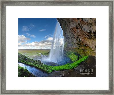 Iceland Waterfall Seljalandsfoss 02 Framed Print
