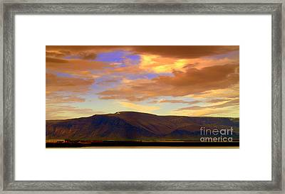 Icelandic Dawn Framed Print by Michael Canning