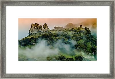 Icelandic Mist Framed Print by Michael Canning