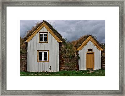 Icelandic Turf Houses Framed Print