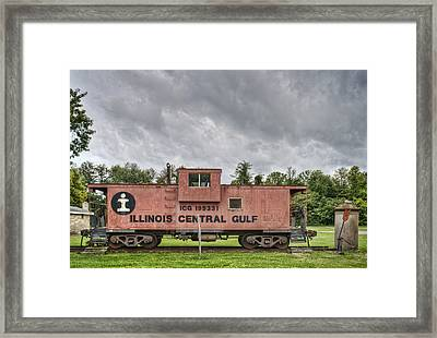 Icg Caboose Framed Print by Jim Pearson