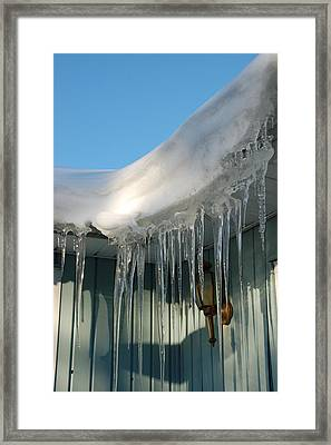 Icicles Framed Print by Aimee L Maher Photography and Art Visit ALMGallerydotcom