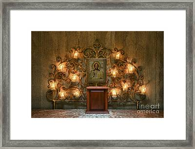 Icon Of Jesus  Framed Print by John Greim