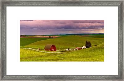 Iconic Farm On The Idaho Palouse Framed Print