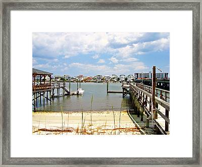 Icw Wrightsville Beach  Framed Print