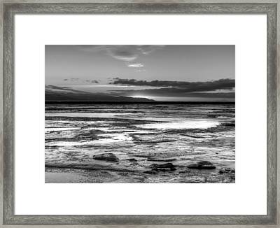 Framed Print featuring the photograph Icy Bay At Sunset by Michele Cornelius