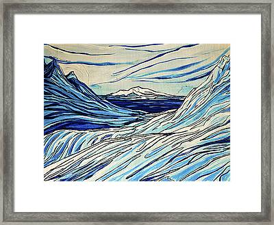 Icy Blues Framed Print by Stephanie Meyer
