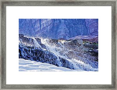Framed Print featuring the photograph Icy Cascade by Albert Seger