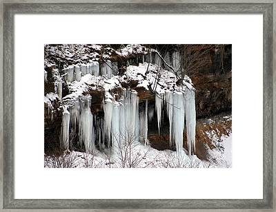 Icy Pennsylvania  Framed Print by Denise Moore