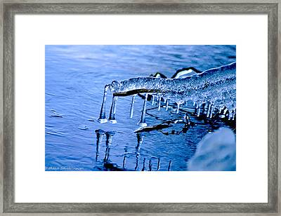 Framed Print featuring the photograph Icy Reflections by Mitch Shindelbower