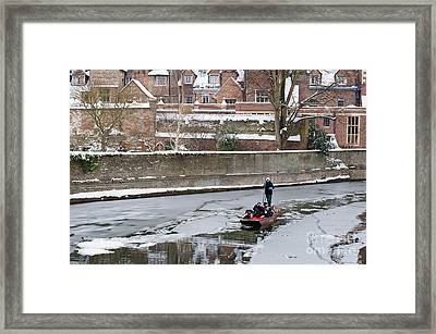 Framed Print featuring the photograph Icy River by Andrew  Michael