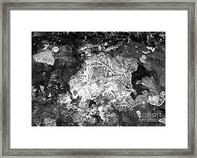 Framed Print featuring the photograph Icy Road by Chalet Roome-Rigdon