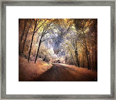 Icy Road Framed Print by Jai Johnson