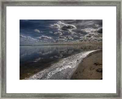Icy Winter Beach Framed Print by Vicki Jauron