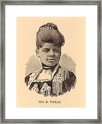 Ida B. Wells, Woodcut, 1891 Framed Print by Everett