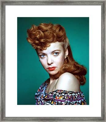 Ida Lupino, Ca. 1940s Framed Print by Everett