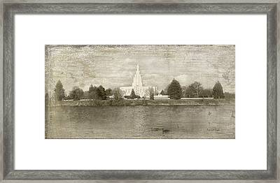 Idaho Falls Temple  Framed Print