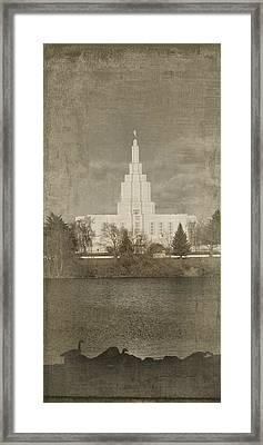 Idaho Falls Temple Verticle Framed Print