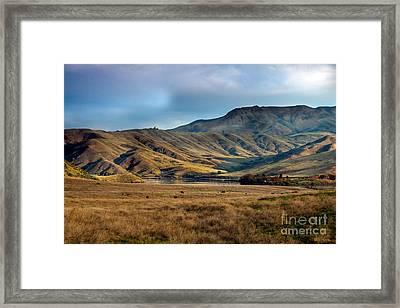 Idaho Foothills Framed Print by Robert Bales