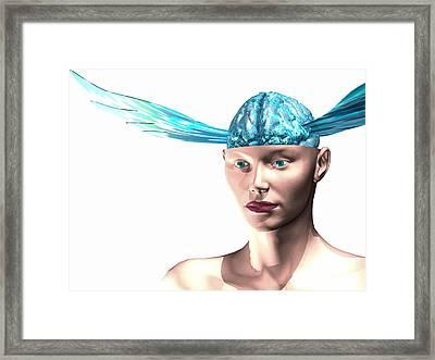 Idea Taking Flight, Conceptual Image Framed Print