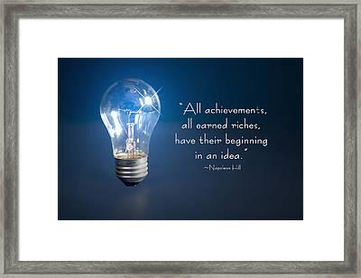 Ideas- Lightbulb Framed Print by Trudy Wilkerson