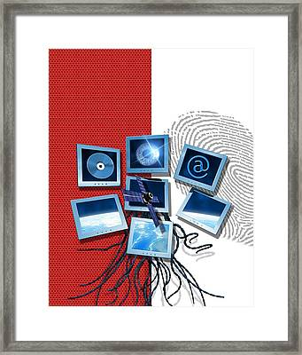 Identification And Surveillance Technology Framed Print by Victor Habbick Visions