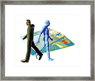 Identity Theft Framed Print
