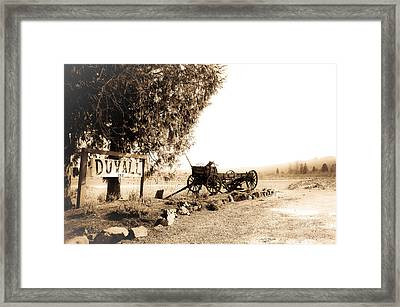 Idle Wagon Framed Print