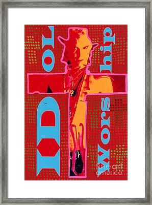 Idol Worship Framed Print by Ricky Sencion