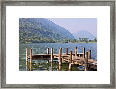 idyllic tarn in Italy Framed Print by Joana Kruse