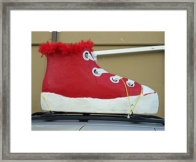If The Shoe Fits Framed Print by Randall Weidner
