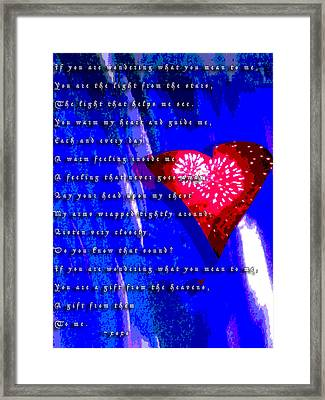 If You Are Wondering Framed Print by Jimi Bush