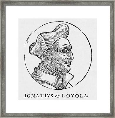 Ignatius Of Loyola, Founder Of Jesuits Framed Print by Middle Temple Library
